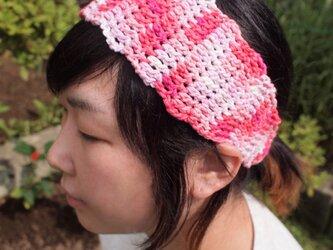 波なみヘアバンド【ピンク系】の画像