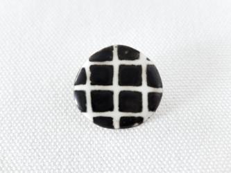 ブローチ Plaid/blackの画像