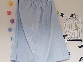 ギャザースカート コードレーン ライトブルーの画像