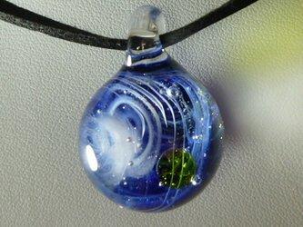 宇宙ガラス、惑星NO.6(星雲、ガラス、星、ペンダント)の画像