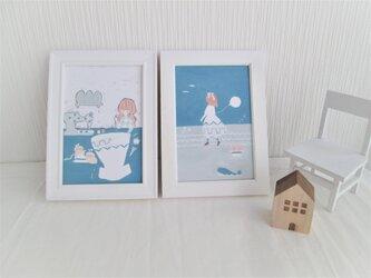 「夏、青に咲く」ポストカード2種セットの画像