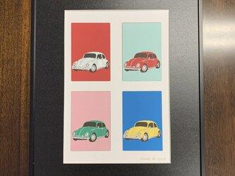 フレーム額装 CAR イラスト 「VW Beetle」の画像