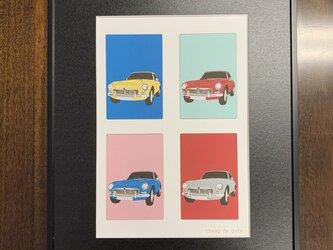 フレーム額装 CAR イラスト 「MGB」の画像