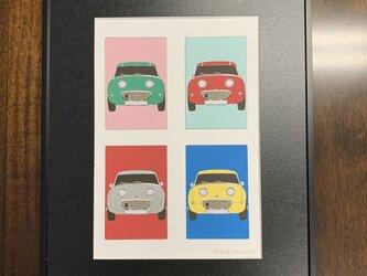 フレーム額装 CAR イラスト 「Austin Healey Sprite」の画像