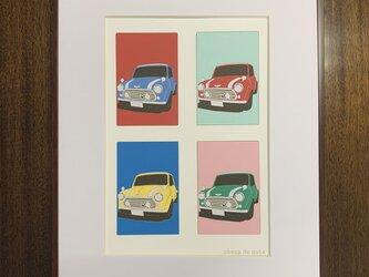 フレーム額装 CAR イラスト 「MINI COOPER」の画像