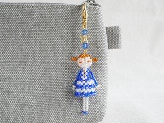 ファスナーチャーム [サラ] ビーズドール・マスコット・人形の画像