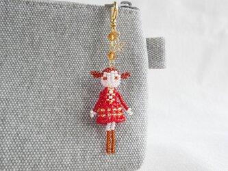 ファスナーチャーム [エレン] ビーズドール・マスコット・人形の画像