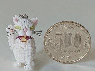 幸せの招き猫(白)の画像