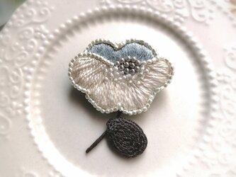 小花*刺繍ブローチ の画像