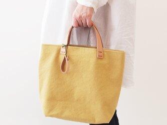 手染め帆布トートバッグSサイズ □硫黄色□の画像