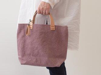 手染め帆布トートバッグSサイズ □薄柿色□の画像