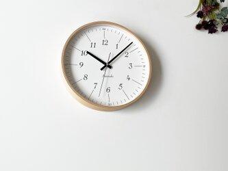 KATOMOKU plywood clock 18 km-110NARC ナチュラル 電波時計 連続秒針の画像