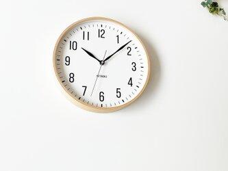 KATOMOKU plywood clock 19 km-111NARC ナチュラル 電波時計 連続秒針の画像