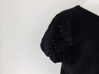 コットン100%・半袖パフスリーブのプルオーバーの画像