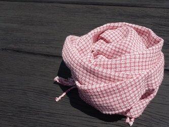 手織りコットンストール・・ローズピンクの画像