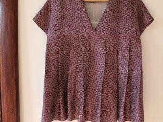 紫★着物用絹100%  3wayブラウス★一枚限定の画像