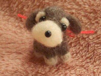 〔受注製作〕羊毛フェルト シュナウザーの画像