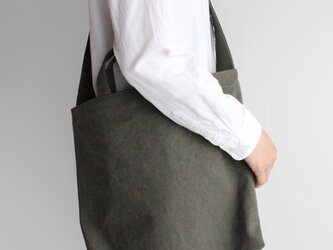 やさしい布のショルダーバッグ【柳】帆布の画像