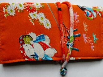 4875 女の子の着物で作った和風財布・ポーチ #送料無料の画像