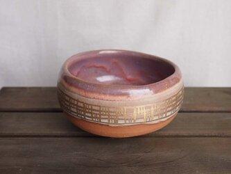 ピンクと金の茶碗(Line)の画像