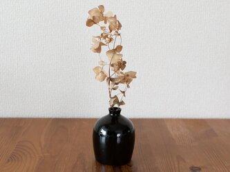花器(黒色・丸型)の画像