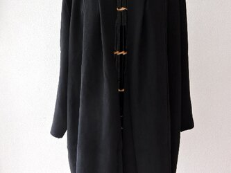 着物リメイク 黒のロングカーディガンの画像