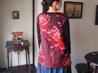 kimono × ジョーゼット × ベロア トップスの画像