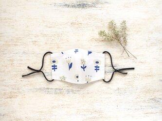 nordic flower さらっとさわやか リネンとコットンの立体マスク【受注制作】の画像