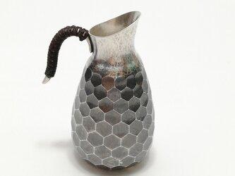 純銀/酒器 徳利 亀甲紋 78mlの画像