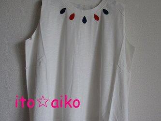 裾幅たっぷり☆ひらひら可愛い!!ドロップシャツ☆☆(シロ)の画像