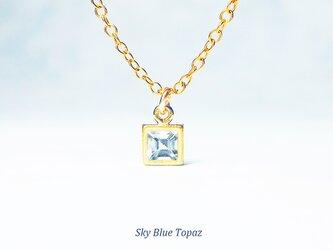 輝く水色。スカイブルー・トパーズのネックレス [送料無料]の画像