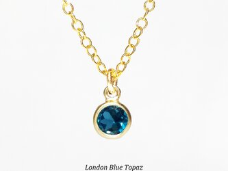輝く1粒。ロンドンブルー・トパーズのネックレス [送料無料]の画像
