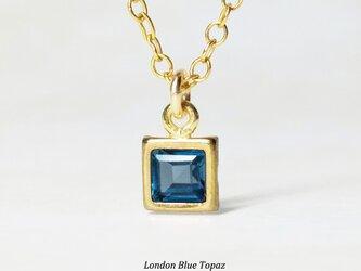 上品な輝き。ロンドンブルー・トパーズのネックレス [送料無料]の画像
