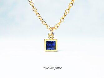 ネイビーブルーの輝き。サファイアのネックレス [送料無料]の画像