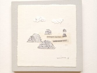 小さな壁掛け・銅版画コラージュ【山 №1】の画像