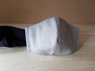 立体マスク[Lサイズ]*ギンガムチェック×チャコールの画像