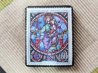 フランス 美術切手ブローチ6189の画像