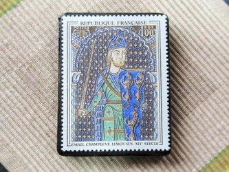 フランス 美術切手ブローチ6191の画像
