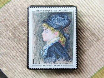 フランス 美術切手ブローチ6192の画像