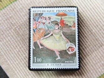 フランス 美術切手ブローチ6193の画像