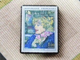 フランス 美術切手ブローチ6194の画像