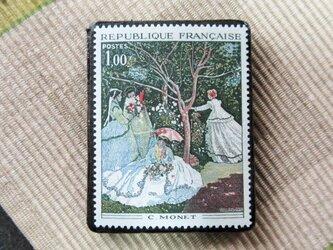 フランス 美術切手ブローチ6195の画像