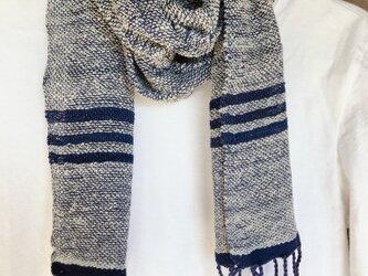 手織り シルク リネン ストールの画像