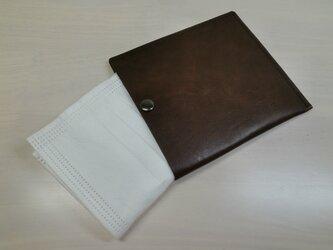 ちょっと贅沢に♪本革製・一枚革の不織布マスクケース・0108の画像