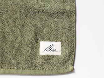 ハンドタオル/海緑色(草木染め)の画像