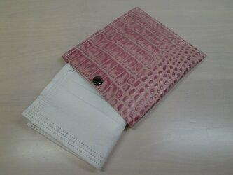 ちょっと贅沢に♪本革製・一枚革の不織布マスクケース・0105の画像