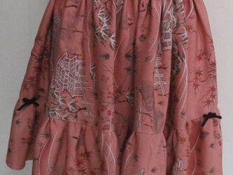 4878 花柄の着物で作ったミニスカート #送料無料の画像