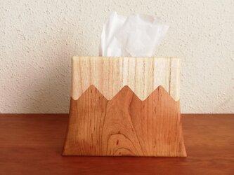縦型ティッシュBOX 富士山 桜の画像