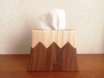 縦型ティッシュBOX 富士山 WALNUTの画像