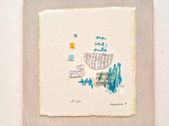 小さな壁掛け・銅版画コラージュ【№66 Ma volonté 私の意志】の画像